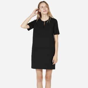 Everlane Ponte Short Sleeve Dress Sz M